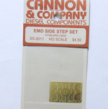 Cannon 2011 HO Scale Detail Part Photo-Etched Brass EMD Side Step Set Athearn SD50