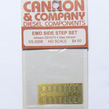 Cannon 2008 HO Scale Detail Part Photo-Etched Brass EMD Side Step Set Athearn SD70/75 w/4 Steps