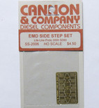 Cannon 2006 HO Scale Detail Part Photo-Etched Brass EMD Side Step Set Proto 2000 SD60
