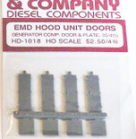 Cannon 1018 HO Scale Detail Part EMD 35/40 Series Generator Compartment Doors pkg(8)