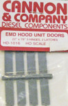 "Cannon 1016 HO Scale Detail Part EMD 22 x 78"" Latched Hood Doors pkg(8)"