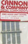 "Cannon 1016 HO Scale Detail Part EMD 22 x 78"" Latched Hood Doors pkg(8)"
