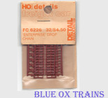 "Detail Associates 6226 HO Scale Gondola Parts Drop Chain Open/Closed ""Enterprise"" for GS Style"