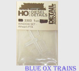 Detail Associates 3303 HO Scale Window Set Athearn F7A