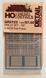 Detail Associates 2723 Air Grilles - GE C44-9 Railpower HO Scale