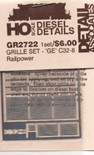 Detail Associates 2722 Air Grilles - GE C32-8/C44-9 HO Scale