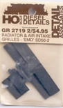 Detail Associates 2719 Radiator Grilles - SD40-2 Radiators & Air Intake Grilles pkg(2) HO Scale