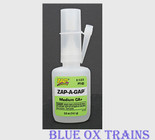 Robart 433 Zap-A-Gap CA+ Filling Adhesive - 1/2 Ounce Bottle