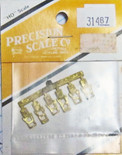 Precision Scale Co PSC 31467 Steps Brass 2 Large, 4 Small HO Scale