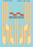 Microscale Decal 87-61 Louisville & Nashville Cab Diesels (1942-1963) Blue/Black & Cream