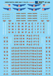 Microscale Decal 87-109 Union Pacific UP E and F-Unit Diesels (1946+)