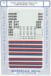 Microscale Decal 87-423 Amtrak Phase II - SDP40F, F40PH, E8 Diesel Locomotives