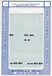 Microscale Decal 87-436 62' CENTER BEAM BULKHEAD BURLINGTON & WESTERN PACIFIC