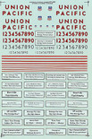 Microscale Decal 87-453 Union Pacific UP Diesels - SD40-2 - Includes Slogans