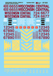 Microscale Decal 87-533 Wisconsin Central Diesels (1987-2001)-Diesel