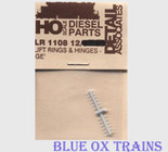 Detail Associates 1108 Lift Rings GE w/Hinges pkg(12) Ho Scale