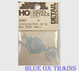 "Detail Associates 2007 Cooling Fan Q-Type 52"" pkg(1) Ho Scale"