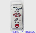Calumet 505 Super Traction Tires for Diesels 20 pcs HO Scale
