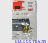 Cal Scale 412 PRR Induction Phone Antenna Supports for Diesels (Brass Castings, less wire) Ho Scale