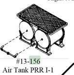Bowser Cary AT-153 AIR TANK PRR I 1 SET (Brass) HO Scale