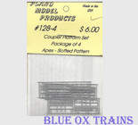 Plano Model 128-4 Coupler Crossover Platform Apex, Slotted Pattern Pkg4 Ho Scale