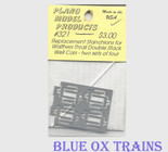 Copy of Plano Model 321 Thrall 48' Well Dbl Stk Replacement Stanchions Wm. K. Walthers car - 8 per pkg  Ho Scale