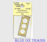 Plano Model 11852 Fan Hatch for Cannon Thin Wall Fans (Brass) For SD40-2, GP/SD40 Ho Scale