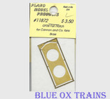Plano Model 11872 Fan Hatch for Cannon Thin Wall Fans (Brass) For GP/SD38, GP/SD39 Ho Scale