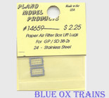 Plano Model 14659 Paper Air Filter Lift Lugs (Etched Stainless) For GP/SD38, GP/SD38-2 pkg(24) Ho Scale