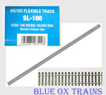 "Peco HO SL-100 Code 100 36"" Nickel Silver Flex Track Wood Ties (25 Pieces) SL100"