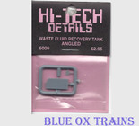 Hi-Tech Details 6009 Waste Fluid Containment Tank Angled Corners HO Scale