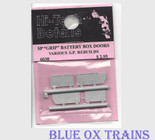 Hi-Tech Details #6030  SP Grip Battery Box Doors Various SP Rebuilds HO Scale