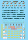 Microscale Decal 87-541 Chicago & North Western Diesels (1988-1995)-Diesel - Late 1980s HO Scale