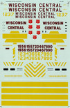 Microscale Decal 87-543 Wisconsin Central WC Diesels - Switcher HO Scale