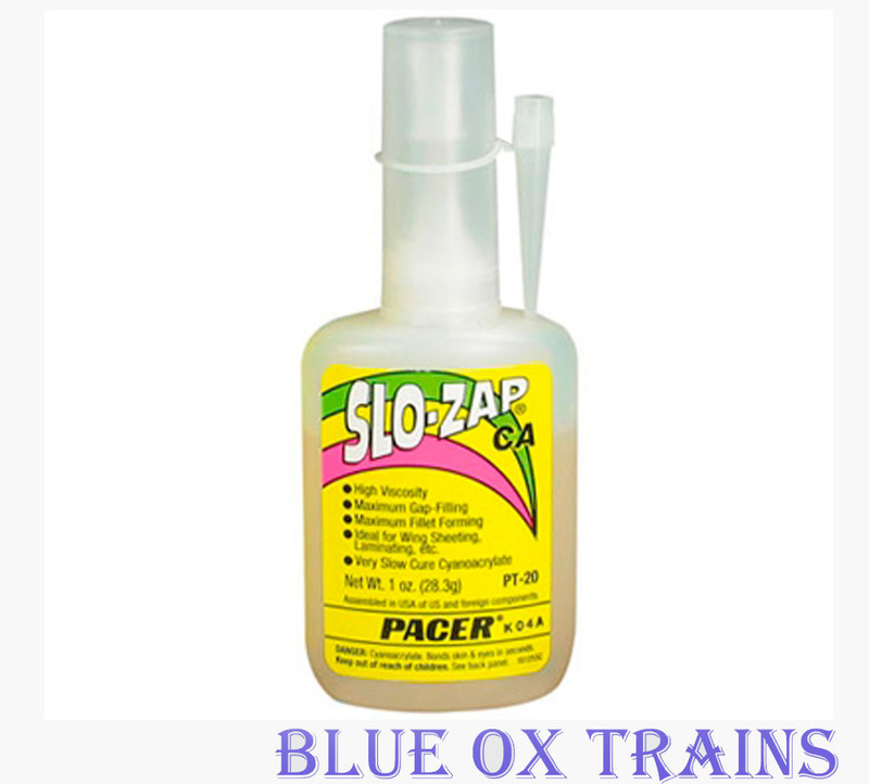 sc 1 st  Blue Ox Trains & Robart 443 Slo-Zap CA Slow-Cure Adhesive - 1 Ounce Bottle