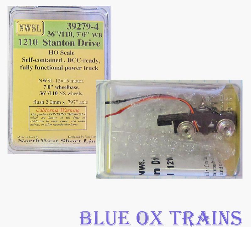 "NWSL 39279-4 Stanton 7' 0"" WB Powered DriveTruck (MDC Box Cab / Climax WB Size)"