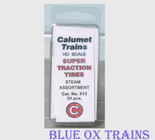 Calumet 513 Super Traction Tires Steam Assortment HO Scale
