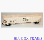 Accurail HO 6506 CSX PS 4750 Covered Grain Hopper CSXT 251362 Kit