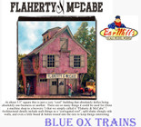 Bar Mills 1340 HO Scale Flaherty & McCabe Laser-Cut Craftsman Kit
