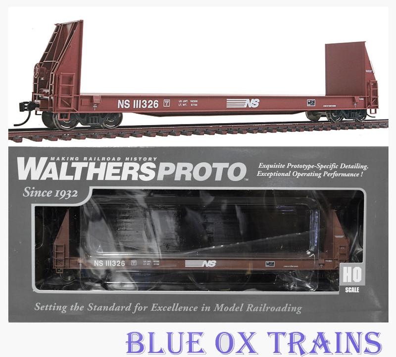 Walthers Proto 920-104515 Norfolk Southern 50' Sieco Pulpwood Flat Car NS 111326 HO Scale