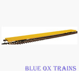 Walthers Gold 932-40300 HO 89' Flush Deck Flat Car Undecorated