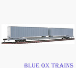 Walthers 932-41050 Mark IV Flexi-Van Flat Car w/Two Trailers Undecorated HO Scale