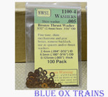 "NWSL 1100-4 Thrust Washers 3/32"" Inside Diameter, 3/16"" Outside Diameter, .005"" Thickness, Bronze Metal"