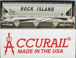 ACCURAIL HO ACF 3-BAY COVERED HOPPER Rock Island RI Kit 2054