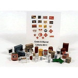 JL Innovative Design 511 HO Scale 30 Crates, Kegs, & Barrels Unpainted Metal Castings