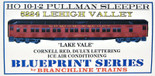 Branchline HO 10-1-2 Pullman Lehigh Valley Lake Vale LV Kit 5224