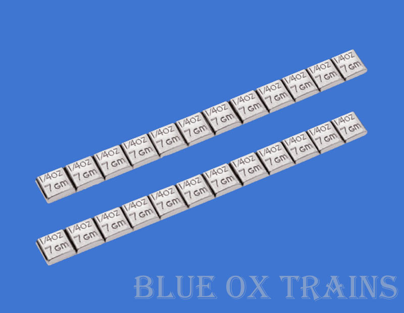Adhesive Lead Car or Model Train Weights (24) 1/4 OZ Rolling Stock Strip