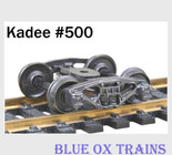 "Kadee HO Scale Bettendorf Trucks 33"" Smooth Back Wheels #500"