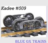 "Kadee 509 HO Scale Andrews 1898 33"" Ribbed Back Trucks"