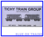 Tichy Train Group 4012 Ore Car 2 Pack HO Scale  KIT